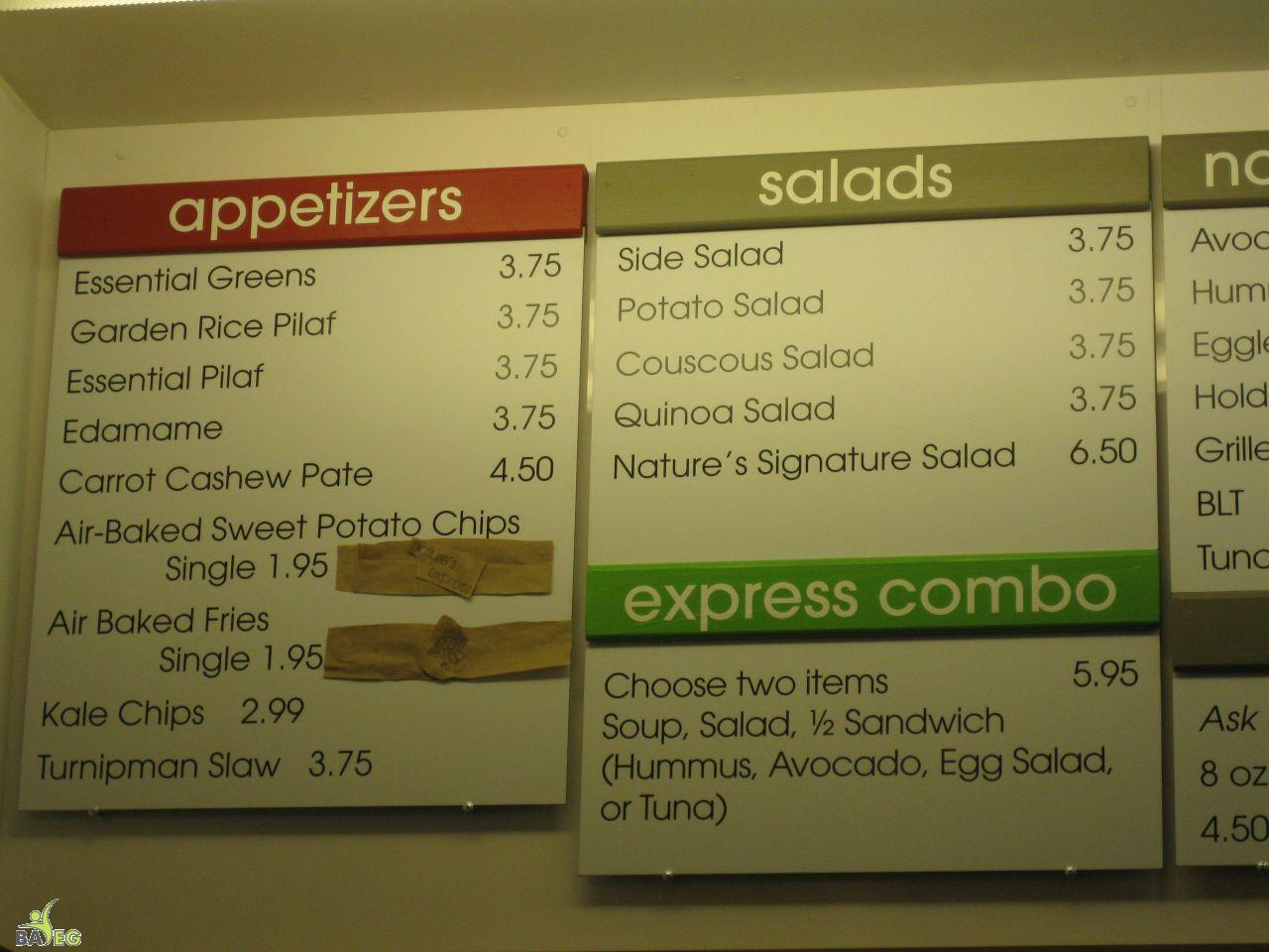 Nature's Express Menu, Berkeley