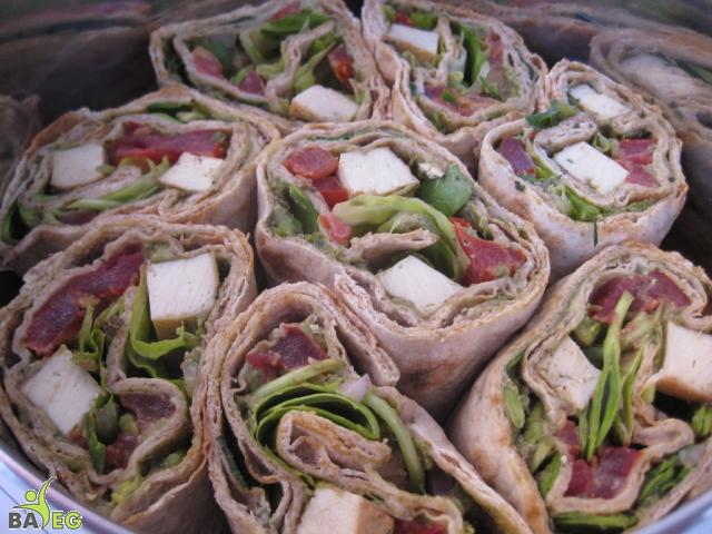 We love Donna - she made us vegan wraps with avocado pesto!!