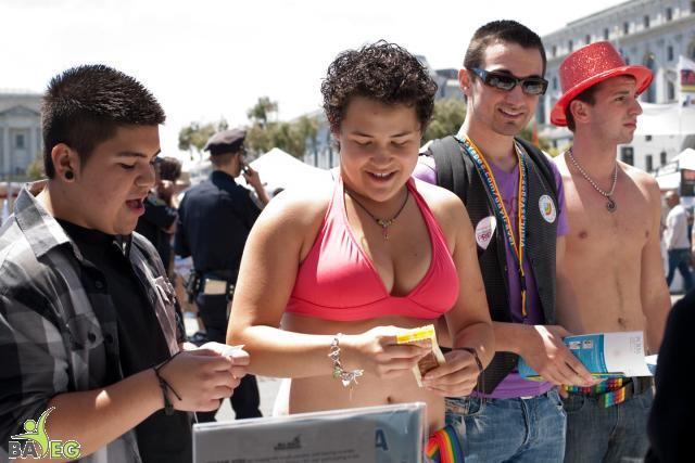 BAVeg Outreach booth - LBGT Pride 2010
