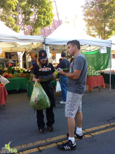 Monthly vegan outreach at Vallejo Farmer's market, October