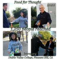 Vegan Outreach at Diablo Valley College - Feb
