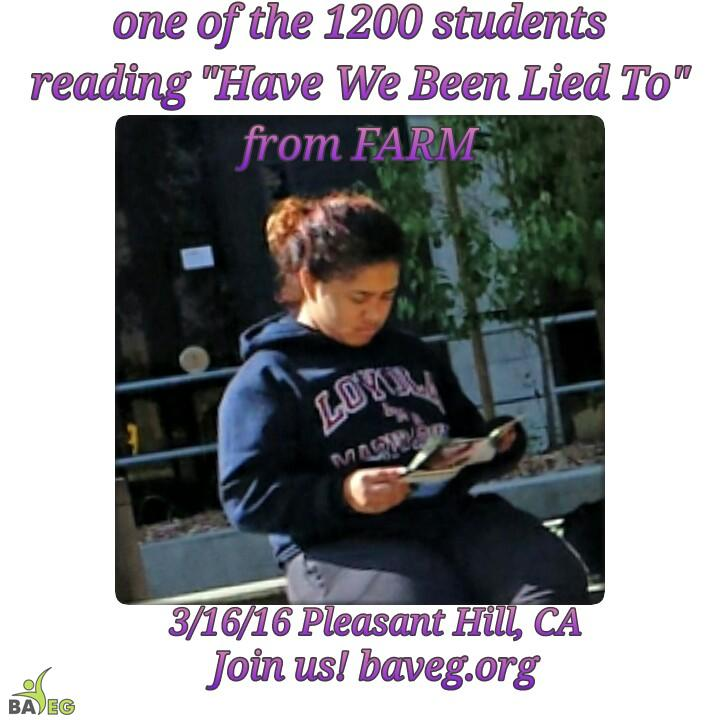 One of the 1200 students reached at Diablo Valley College