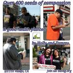 Over 400 seeds of compassion planted at Vallejo Farmer's Market