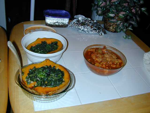 stuffed squash and aloo gobi