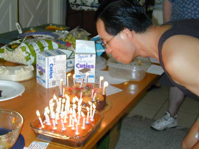 The Birthday Boy... gee, I wonder what he is wishing for??