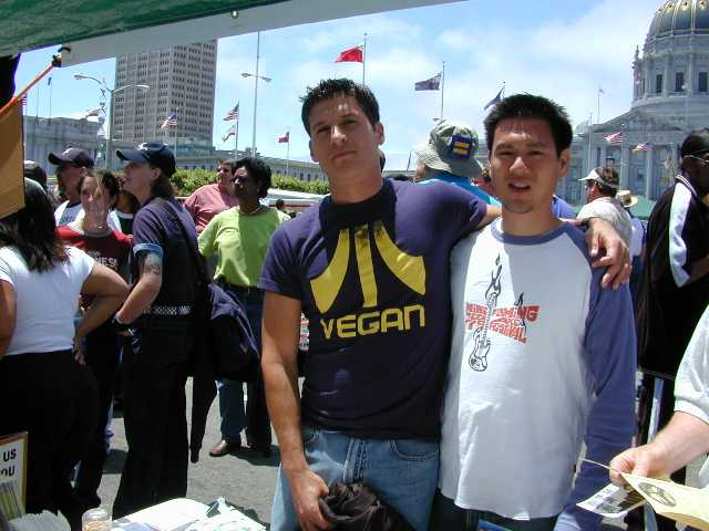 We met veg folks from around the world.. from Auckland, New Zealand to London to Fremont!