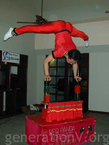 Commercial plug: Wayne Huey of Red Panda Acrobats, 415 731-5037