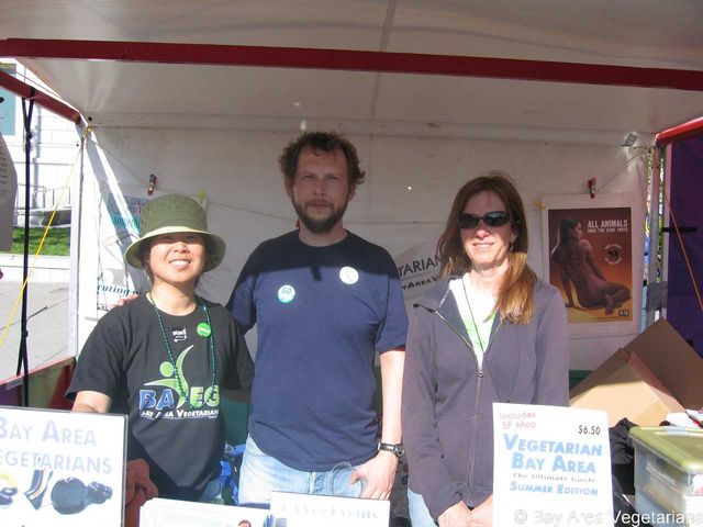 Three Vegan Volunteers