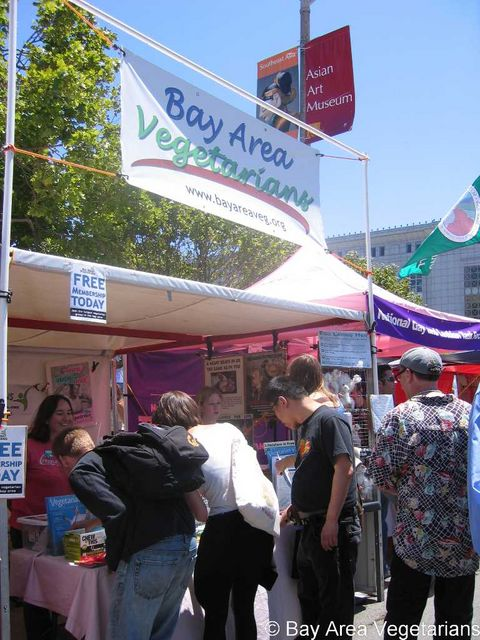 BAVeg booth at SF GLBT Pride 2007