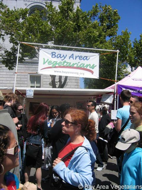 BAVeg booth at SF LGBT Pride 2007