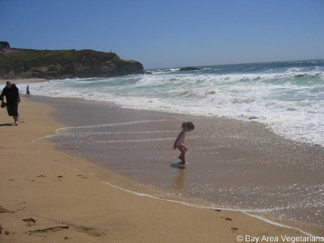 Little Girl, Sand, Surf