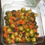 Glazed brussel sprouts