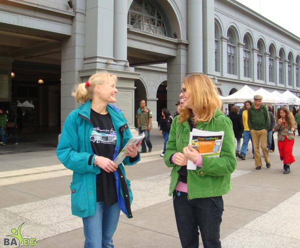 Alex and Shani leafleting in SF